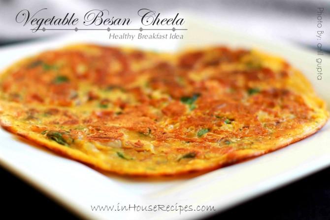 Indian fast food – Besan cheela