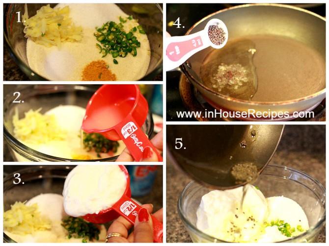 Making sooji paste for Idli dhokla