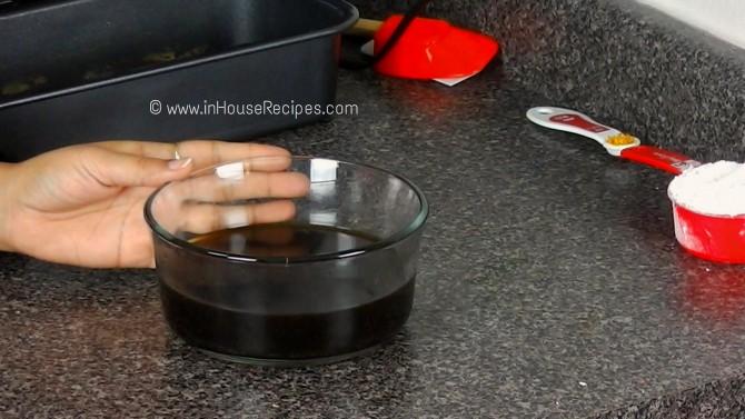 Brewed coffee for tiramisu cake