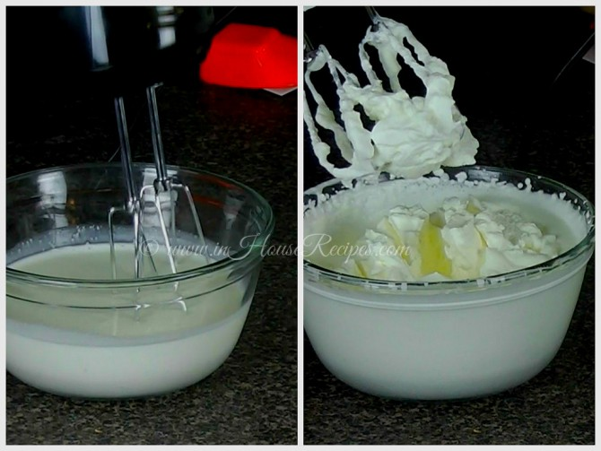 Making whipped cream