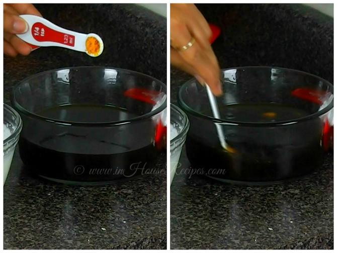 Mixing Orange zest in coffee