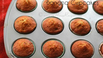 Banana cupcakes with chocolate
