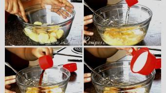 Mash banana for cupcake