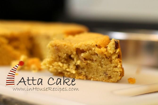 Atta Cake Recipe Hindi