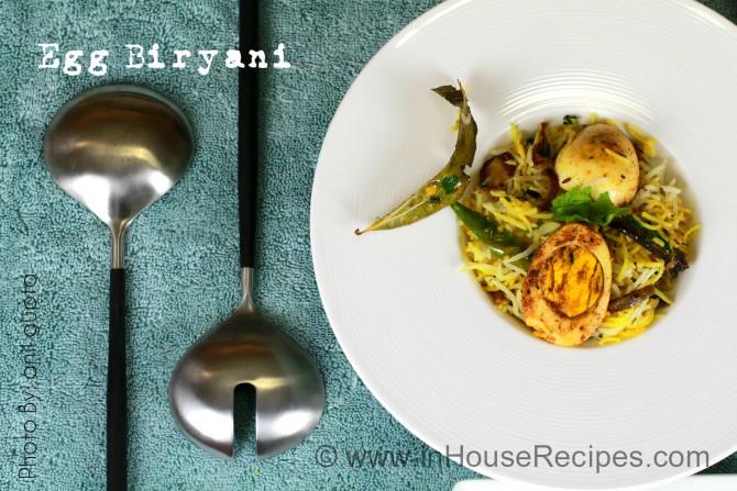 Quick biryani on tava with egg