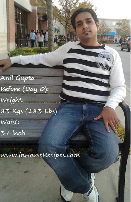 Anil Gupta GM Diet day 0