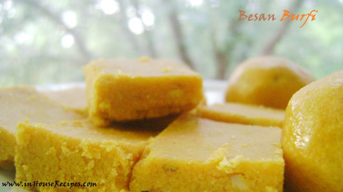 how to make besan burfi with condensed milk