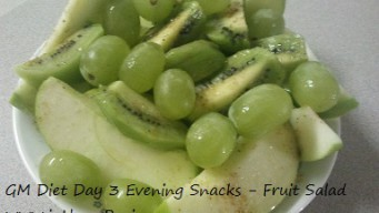 GM diet Day 3 Evening Snacks
