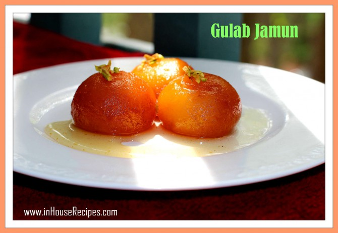 Sunlight falling on Gulab Jamun shows the vibrant orange and brown color