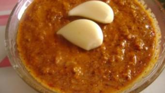 Instant Garlic Coconut Chutney