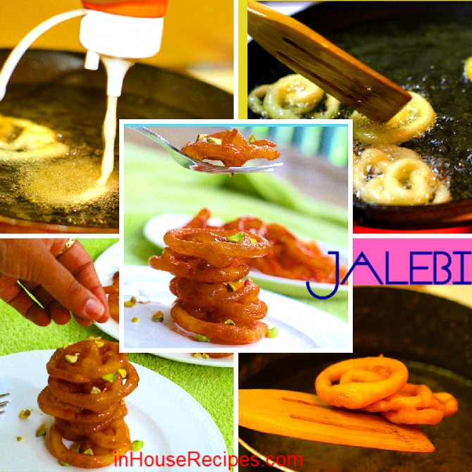 Instant Jalebi - This recipe does not need long fermentation time