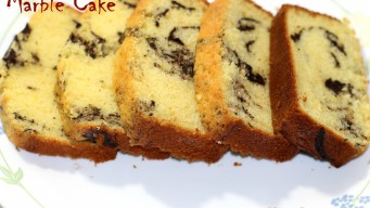 Sliced Marble Cake to go with evening snacks