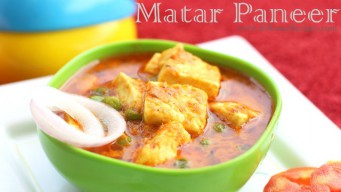 Matar paneer - The easier way