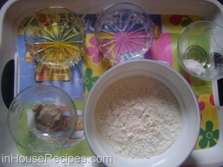 Pizza ingredients for dough