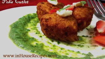 Heart Shaped Poha Cutlet